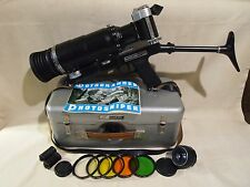 KMZ PHOTOSNIPER ES Russian SLR 35mm Camera ZENIT ES TAIR 3-Phs 300mm f/4,5 Lens