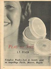 Publicité Advertising 1955 Maquillage L.T. PIVER poudre fond de teint