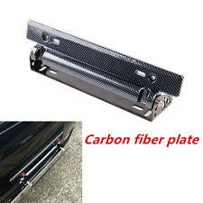 Adjustable Racing Carbon Fiber Style Car Van License Plate Frame Bracket Holder