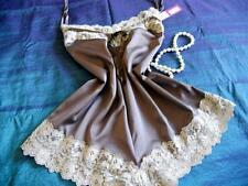 Chocolate Satin Teddy Lavish Lace XXL Cami-Knickers Panties Sexy Lingerie NEW
