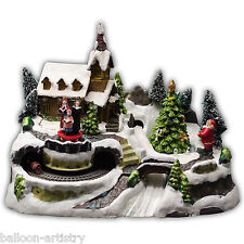 30cm Christmas Light Up Cosy Winter Village CAROLLERS Indoor Lights Decoration