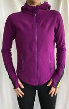 Lululemon Size 6 Define Hooded Purple Jacket Yellow Thumbholes Shape Forme