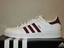 ADIDAS CAMPUS II  WHITE MAROON LEATHER  MENS SHOES US 11  **FREE POST AUSTRALIA