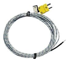 K Type Thermocouple temperature sensor, probe, wire Lead -50°C to 250°C, 3 metre