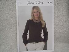 James C Brett - Ladies Cardigan & Sweater Double Knitting Pattern - JB180