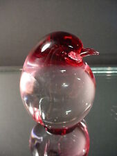 Scarce Oggetti Italian Glass Vintage Cranberry Ruby Kiwi Bird Murano Eames Era