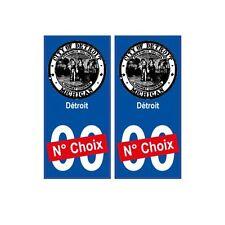 Détroit ville sticker numéro au choix autocollant blason USA city droits