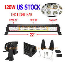 "22"" Inch 120W Led Light Bar Flood Spot Combo Work Lights 4WD UTE OFFROAD SUV ATV"