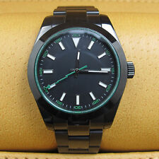 40mm Parnis Fashion Men's Stainless Steel Black PVD Sapphire Automatic Watch