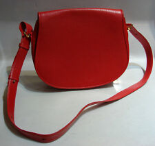 MUST DE CARTIER PARIS RED LEATHER BAG CROSSBODY SHOULDER BAG AUTHENTIC
