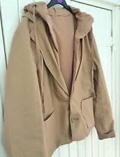 SALE! New Ladies Camel Beige Hooded Casual Jacket Size 12