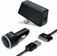 iLuv IAD574BLK USB Car & USB AC Adapter with Charge/Sync Cable for Galaxy Tab