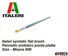 Italeri Pennello Paint Brush Sintetico Piatto 000 - Flat Brush Per Modellismo