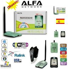 ALFA N, 2w,AWUS036NH,ANTENNA WIFI,V5,2000MW,SHIPMENTS URGENT FROM SPAIN 24 hours