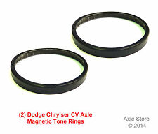 2 New Dodge Chrysler Axle ABS Tone Rings, Magnetic Encoding, With Warranty