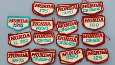 Vintage Honda Motocross Motorcyle Patches 100, 500, XL 250 CB-500 and more
