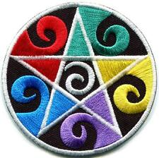 Wiccan pentagram pentacle earth mother goddess applique iron-on patch S-1057
