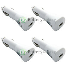 4 White USB Travel Battery Car Charger Plug for Apple iPhone SE 6 6S 7 7S Plus