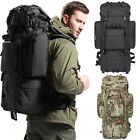 80L Waterproof Sports Tactical Camping Hiking Backpack Luggage Rucksack Bag New