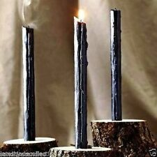 Spell Candles: 12 Pcs Black Taper Candle, Pagan, Wicca, Altar, Or Healing.