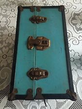 "Vintage Metal Doll Trunk for Doll Clothes - Chest circa 1940's - 14.5""x8.5""x7.5"""
