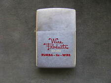 Zippo Lighter 1977 Advertising Wire Products Rumba Tie Wire.
