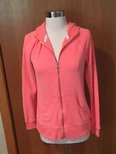 NYC Victorias Secret Paris Supermodel Essentials Hoodie Zippered Sweatshirt Neon