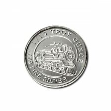 20 - 1/10 oz. 999 Fine Silver Rounds - Steam Train - Uncirculated