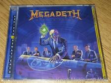 "MEGADETH  ""Rust In Peace""  RM W/Bonus Tracks     NEW   (CD, 1990/2004)"
