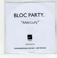(GD602) Bloc Party, Mercury - 2008 DJ CD