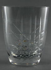 An Ingeborg Lundin cut crystal vase for Orrefors. 1950's 60's. Geometric design