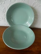 3  WOOD'S WARE 'BERYL'  LARGE SOUP/FRUIT/CEREAL BOWLS