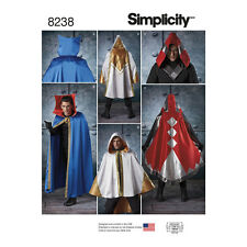 Simplicity Sewing Pattern Misses, Mens & Teens Cape Costumes | ONE SIZE | 8238OS