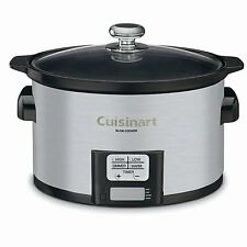 Programmable Slow Cooker w LCD Timer Oval Shaped Ceramic Pot Touchpad Control