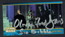 Oliver Ford Davies signed autograph Topps Widevision Star Wars Gov. Sio Bibble