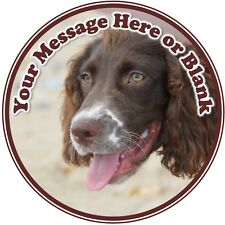 Personalised round cake topper icing English Springer Spaniel Dog Puppy cute