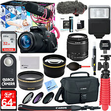 Canon T5i Rebel EOS Video Creator Kit 18-55mm Lens Rode Video Mic + Battery