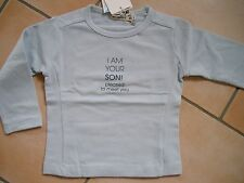 "(X22) Imps & Elfs Baby Shirt mit Druck ""i am your son pleased to meet you"" gr.74"