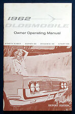 Owner's Manual  * Betriebsanleitung 1962 Oldsmobile Ninety-Eight Super 88  (USA)