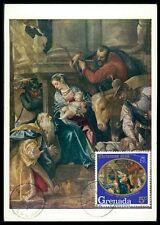 GRENADA MK 1968 WEIHNACHTEN CHRISTMAS MAXIMUMKARTE CARTE MAXIMUM CARD MC CM bb34