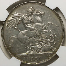 1821 UK Great Britain Crown KM# 680.1 - S. 3805 Secundo NGC AU Details RARE