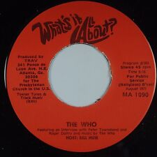THE WHO: Rare DJ ONLY Radio Promo 45 Townshend  Daltry  '77 Orig NM Super Scarce
