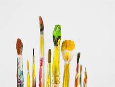ART PRINT POSTER PHOTO PAINT PAINTBRUSHES COLOURS STAINED LFMP0285
