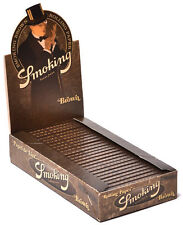 25 Pk Smoking Brown Unbleached 1.25 Cigarette Rolling Papers 1250 Leaves 3108-25