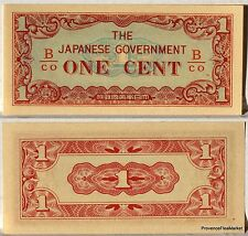 BIRMANIE OCCUPATION JAPON PETIT BILLET NEUF de 1 CENT 1942 Pick9b
