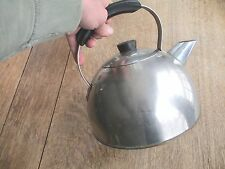 "TEA KETTLE copper (?) GIANT modern ART DECO 10"" H x 11"" Widest OLD PANTRY FIND"