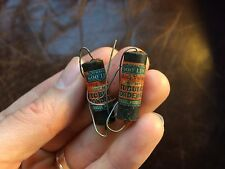 "2 NOS Vintage 1940s Sprague ""600 Line"" Capacitors .0005 uf 600v Guitar tone Caps"
