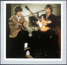 THE BEATLES POSTER PAGE . 1966 PAPERBACK WRITER PROMO JOHN LENNON & GEORGE . H70