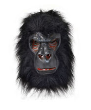 Gorilla Ape King Kong Latex Mask & Hair Fancy Dress Accessory P8598