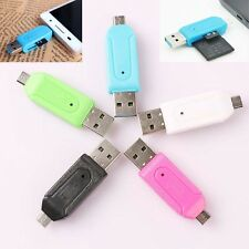 USB + Micro USB OTG SD T-Flash Memory Card Reader Adapter per Tablet Mobile PC
